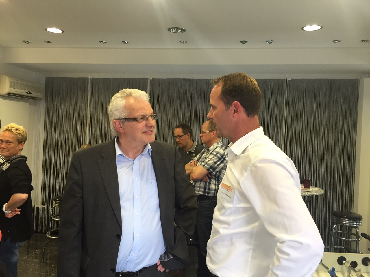 Christoph Almering mit Bernhard Tenhumberg, MdL